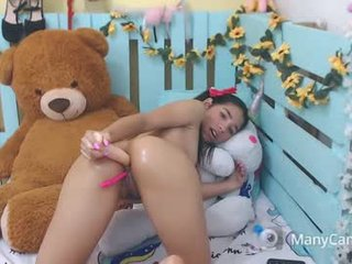 sexy_dreams18 nude cam babe presents on screen debut of real double penetration